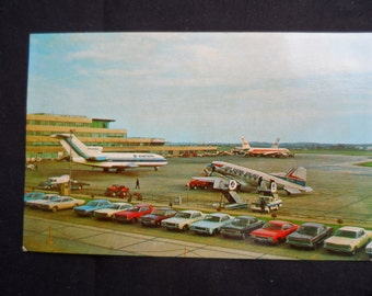 FREE SHIPPING in USA Eastern Airlines Memorabilia Post Card Greater Pittsburgh Internat'l Airport  Eastern Airlines Collectible  1056