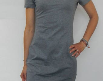 Jersey dress with asymmetric usage, transition dress, sheath dress, Sommersweat