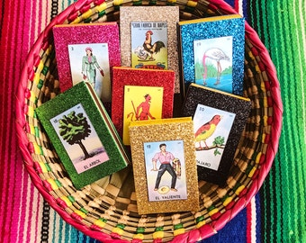Mexican loteria wedding favors, Loteria match box, Mexican party favors, Fiesta favors, Mexican wedding favors, SET OF 10