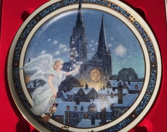 Slient Night Christmas Carol Collection Plate