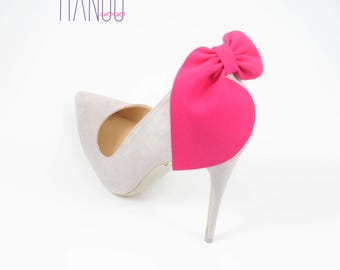 Pink bows- shoe clips Manuu, wedding shoe clips, shoe accessories, women shoes, bridal shoes