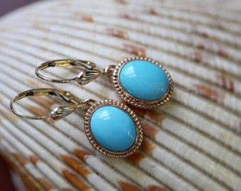 Turquoise Emma Earrings by Elizabeth Henry