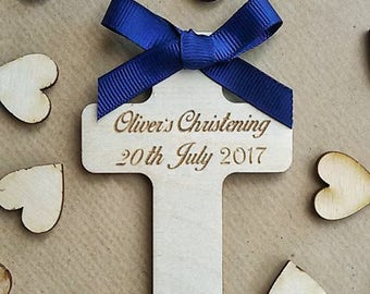Christening - Baptism - Holy Communion - Wedding - Special Occasions. Personalised plaque with magnet.