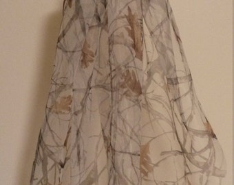 Custom Single-Layer Wedding Veil (White, Ivory, Snow Camo, Pink Camo, and Camo Options)
