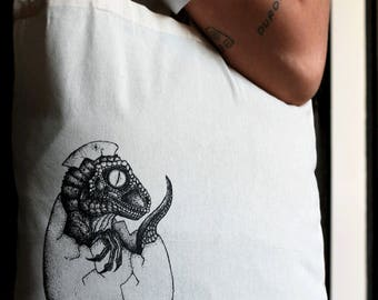 Baby Dino tote bag // dinosaur // egg // science // prehistoric