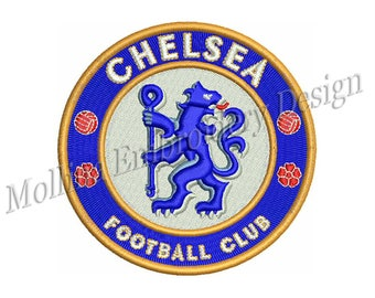 Chelsea Football Club Logo Embroidery Design 3 Sizes