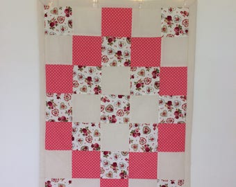 Vintage Style Floral Wiggle Mat, Baby Play Mat, Change Mat