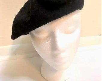 Vintage 50s/60s French Wool Basque Beret