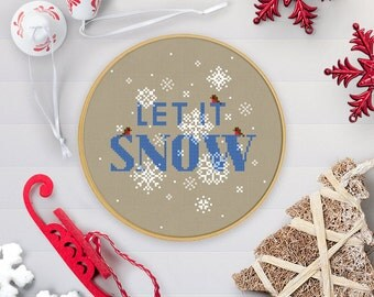Let It Snow | PDF Cross Stitch Chart