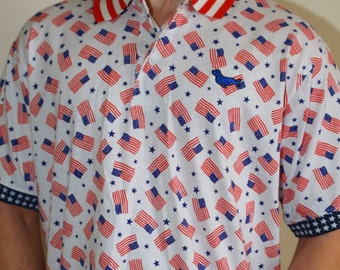 American Flag Shirt - Great for 4th of July and Memorial Day - Patriotic Polo