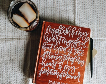 Hand Painted ESV Journaling Bible   Copper