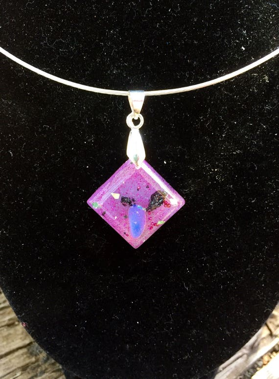 Cosmic Consciousness Orgone Energy Generator Charm- Spirit Guide Orgonite® Necklace- Spiritual Protection Orgonite Necklace- WisdomTeachings