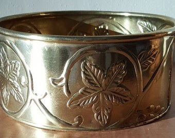 Solid Brass Planter Made in India by Hosley~Farmhouse Planter~Garden Decor Embossed Brass Planter