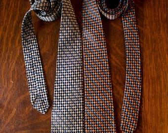 Vintage 60s Necktie Set // FREE Shipping