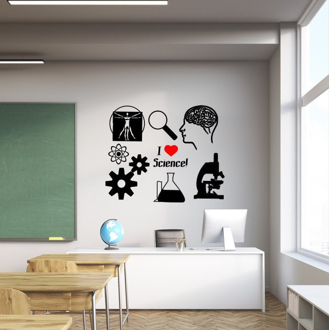 Teacher Classroom Wall Decor ~ Science wall decal teacher