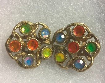 Sarah Coventry Moonlites Clip Earrings, 1970's
