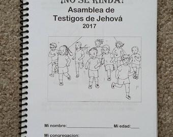 SPANISH  Español 6-12yo JW Notebook Regional Convention 2017 No Se Rinda 2017 Asamblea de lo Testigos de Jehová