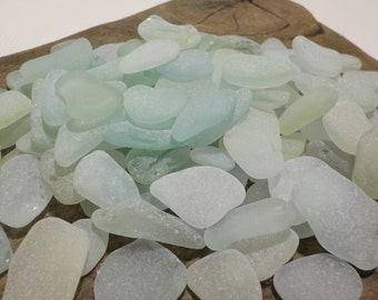 70 Perfectly smoothed light Aqua Sea Glass TINY pieces -Genuine Sea Glass Bulk-Art Supplies -Home Decor#33B#