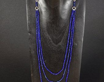 Necklace lapis lazuli and Emerald