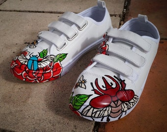 Sneakers painted to hand - size 38