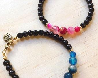 Agatha | Agate and Onyx bracelet