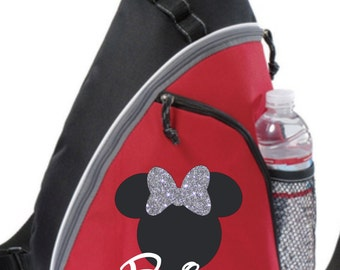 Minnie or Mickey Personalized bag, Minnie Backpack, Disney Trip Kids backpack, Family Vacation Minnie Bag, Disney wedding