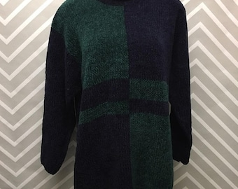 Chrysantheme Color block Vintage Sweater