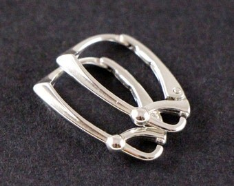 Luxury Earwires sterling silver leverbacks HIGH QUALITY choose quantity