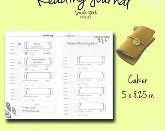Fauxdori Insert, Reading Log, Reading Journal, Bullet Journal, Book Log, To buy, Cahier Insert, Cahier Notebook, Tn Insert, Midori, PDF