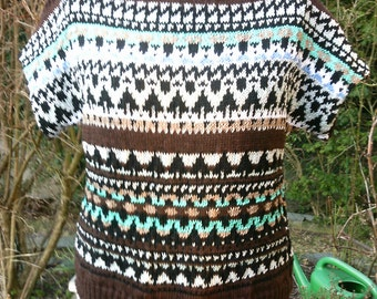 Knitted pullovers, ethnic style, size 40-42 (M), fair Isle pattern