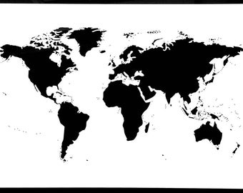 World Map Stencil, 190 Micron Mylar, Map Of The World, Reusable, Wall Art, Arts And Crafts, Large, Extra Large, Atlas, Continents, Countries