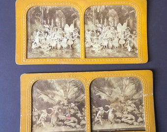 Diableries French Tissue stereoview/stereoscope cards/set of three