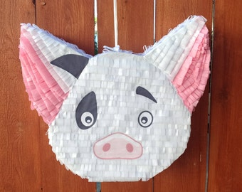 Pua Pig Piñata / Moana Themed Piñata / Moana Birthday Decorations / Moana Party Decorations
