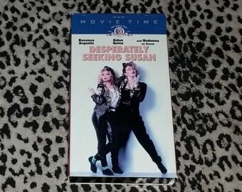 Desperately Seeking Susan [VHS] 80s Movie Retro Romantic Comedy VHS Madonna Vintage 80s Music Video VHS Rosanna Arquette