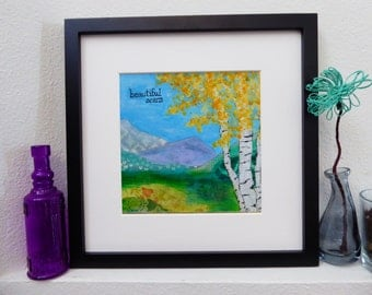 Mixed Media Photo Print Giclee Art - Beautiful Scars Aspen Trees