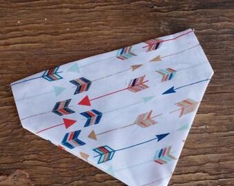 Dog Bandana,  slide on bandana,  stocking stuffer, dog lover, arrows, boho