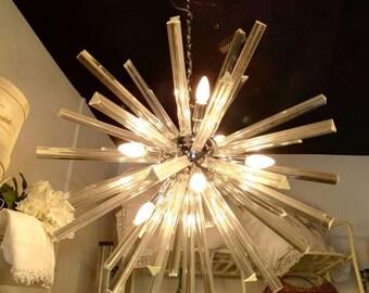 Wonderful Sputnik Chandelier on Triedro Murano Glass
