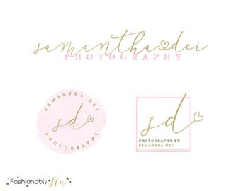 Photography Logo, Premade Logo, Watercolor Logo, Gold Logo, Photography Logos and watermarks, logo designs, Business Logo, Feminine Logo