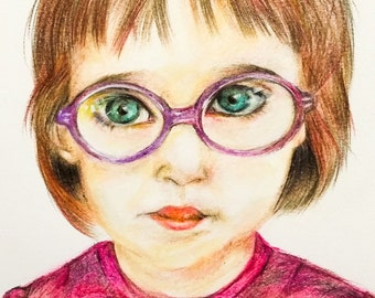Custom portrait, custom pastel portrait, gift for him and her, drawing on commission, portrait from photo, portrait