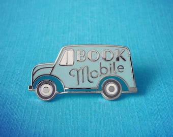 Bookmobile enamel pin - Literary Gift - Gifts for Book Lovers - Gifts for readers - Bookish Gift