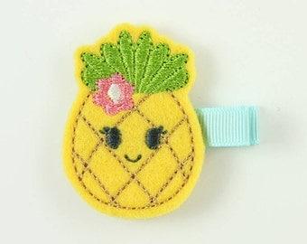 Cute Pineapple Felt Hair Clip   Pineapple Hair Clip   Summer Hair Clip   Pineapple Accessories   Pineapple Feltie   Gifts under 10