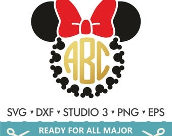 70% OFF SALE Disney Svg / Mickey Mouse svg / Minnie Mouse Svg / Disney / Monogram Svg / Frame Cut Files - Svg DXF Silhouette Studio Cricut