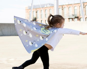 Toddler Cape - Kids Cape - Superhero Cape - Superhero Child Cape - Pretend Play - Personalized Cape for Girl - Gift for Girl - Organic Cape