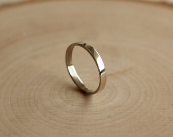 Simple Sterling Silver Band, Smooth Silver Ring, Handmade Silver Band
