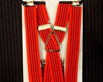 "Skinny Pinstripe Suspender - 1/2"""