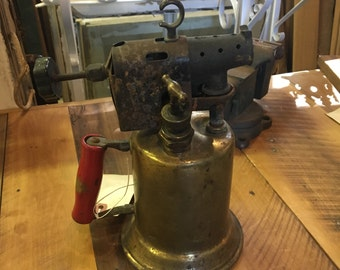 Vintage Clayton and Lambert Mfg. Co Brass Blow Torch from Detroit Michigan