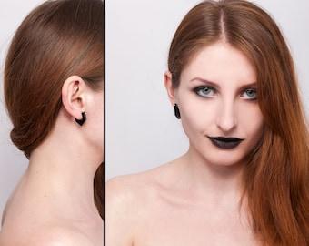 Black Lasercut Plexiglass Earrings Black Diamond 002
