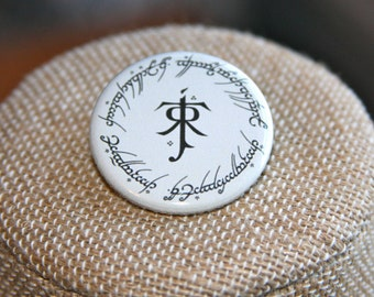Tolkien Symbol Button, Tolkien Symbol Pin, Tolkien Pin, Tolkien Button, Elvish Pin, Lord of the Rings Pin