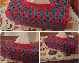 Tissue box cover in various colours or choose your own