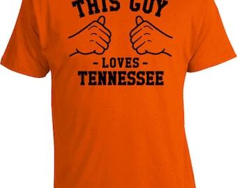 This Guy Loves Tennessee Shirt State T Shirt Home Gift Ideas For Him Sports Fan TN TShirt Football TShirt Sports T-Shirt Mens Tee TGW-240